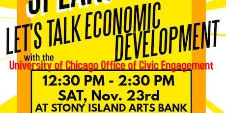 South Shore Speaks: Let's Talk Economic Development tickets