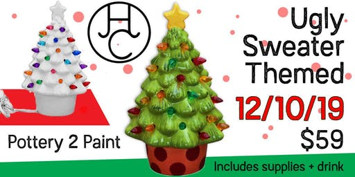 Pottery 2 Paint - Light-up Christmas Tree