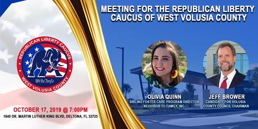 2019 October West Volusia County Chapter General Meeting