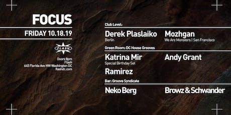 FOCUS: Derek Plaslaiko - Mozhgan at Flash tickets