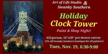 Paint Night: Holiday Clock Tower tickets