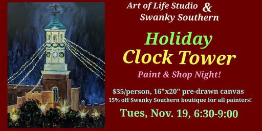 Paint Night: Holiday Clock Tower