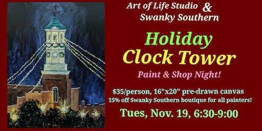 Paint Night: Holiday Clock Tower