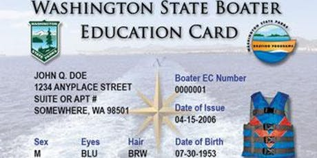 Spokane County Sheriff Boating Education Course tickets