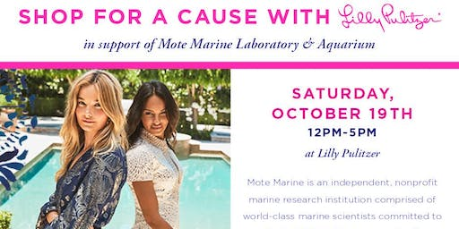 Shop for a Cause with Lilly Pulitzer in Support of Mote Marine Laboratory & Aquarium