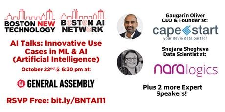 AI Talks: Innovative Use Cases in ML & AI (Artificial Intelligence) tickets