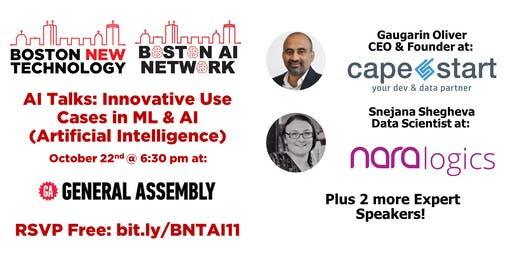 AI Talks: Innovative Use Cases in ML & AI (Artificial Intelligence)
