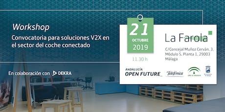Workshop Convocatoria para soluciones V2X en el sector del coche conectado entradas