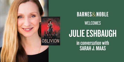 Julie Eshbaugh celebrates CROWN OF OBLIVION with Sarah J. Maas -Holland, PA