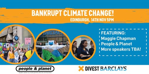 Bankrupt Climate Change - Divest Barclays Launch