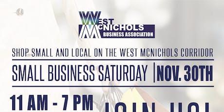West McNichols: Shop Small Saturday! tickets