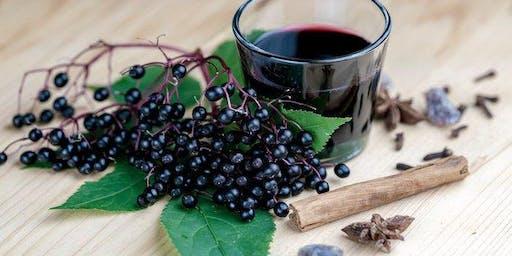 Fresh Elderberry Syrup