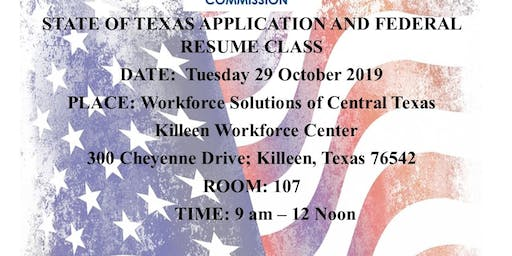 Red White and You ; State of Texas and Federal Resume Class
