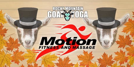 Goat Yoga - November 24th (Motion Fitness and Massage) tickets
