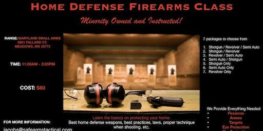 Home Defense Firearms Class