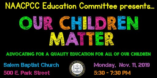 Our Children Matter Dinner & Discussion