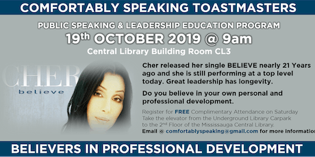 Public Speaking & Leadership Education  @ Comfortably Speaking Toastmasters tickets