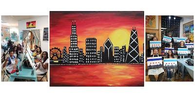 "BYOB Sip & Paint Event - ""Chicago Skyline"""
