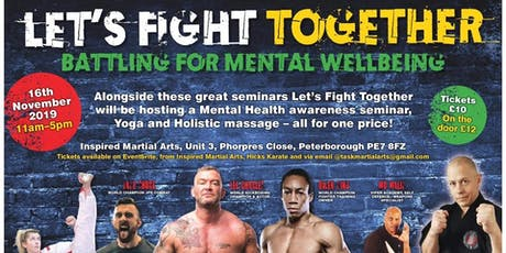 Let's Fight Together - Battling for Mental Wellbeing tickets