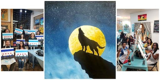 """BYOB Sip & Paint Event - """"Howling Wolf"""""""