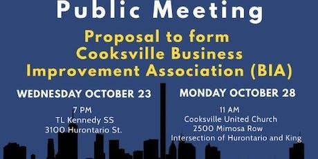 Cooksville Business Improvement Association Public Meeting tickets
