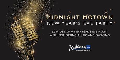 Midnight Motown New Year's Eve Party at Radisson Blu Edwardian Heathrow tickets