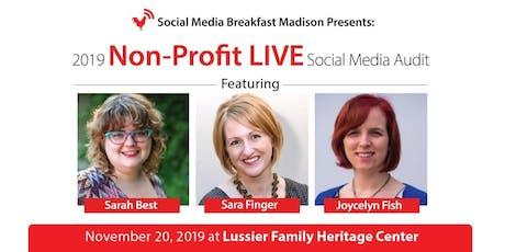 2019 Non-Profit LIVE Social Media Audit tickets