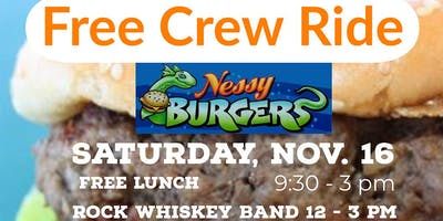 Free Crew Ride to Nessy Burger