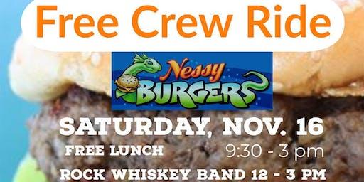 Free Crew Ride to Nessy Burger