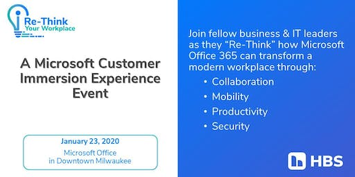 Microsoft Customer Immersion Experience with HBS