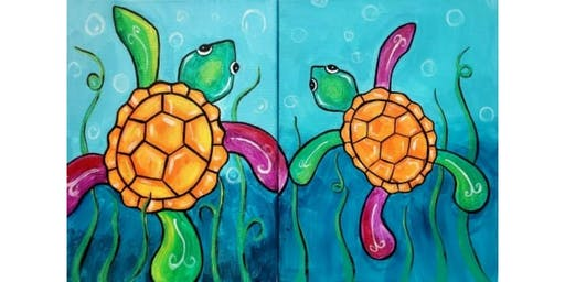 """Sweetest Day Paint Party - """"Sea Turtles"""" (Mommy/Daddy and me)"""