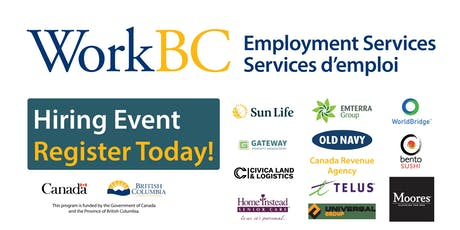 WorkBC South Surrey-White Rock Job Fair - Business, Retail, Construction, Homecare tickets