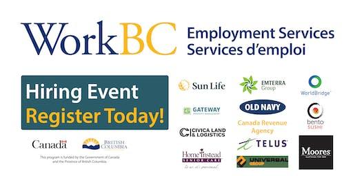 WorkBC South Surrey-White Rock Job Fair - Business, Retail, Construction, Homecare
