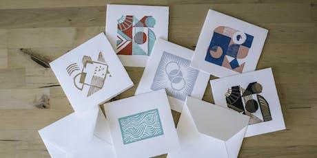 Greeting Card Block Printing tickets