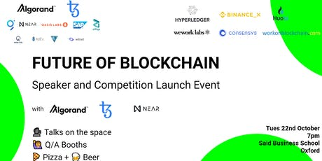 Future of Blockchain Speaker and Launch Event Oxford tickets