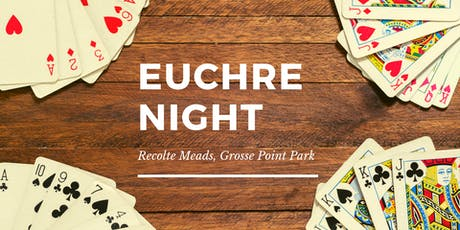 Euchre Night at Recolte Meads - Grosse Point Park tickets