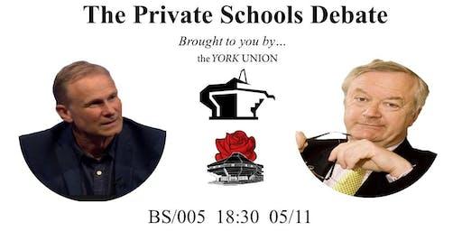 The Private Schools Debate: Robert Verkaik V Dr Martin Stephen