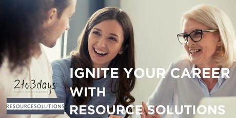Ignite your career with Resource Solutions tickets
