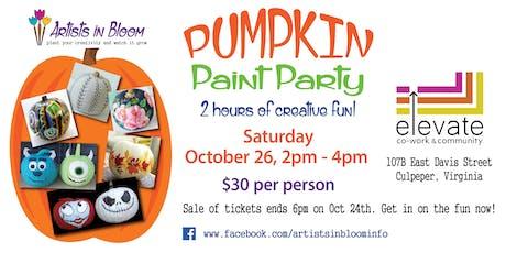 Pumpkin Paint Party tickets