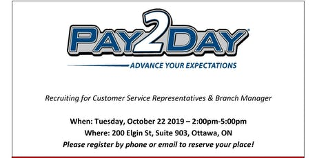 Hiring Event with PAY2DAY tickets