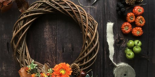 Autumn/Winter wreath making workshop Sat 2/11/19 AM