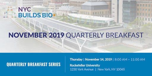 NYC Builds Bio+ November Quarterly Breakfast