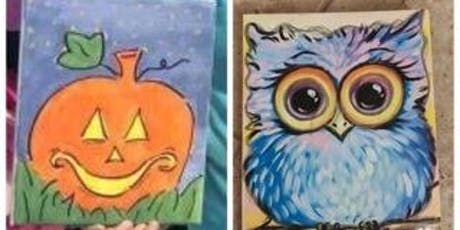 Pumpkin or Owl on Canvas-All Ages tickets