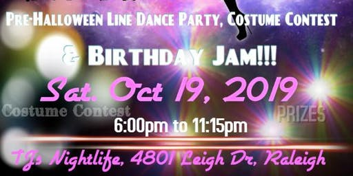 NC's Largest Pre-Halloween Line Dance Party, Costume Contest & Birthday Jam