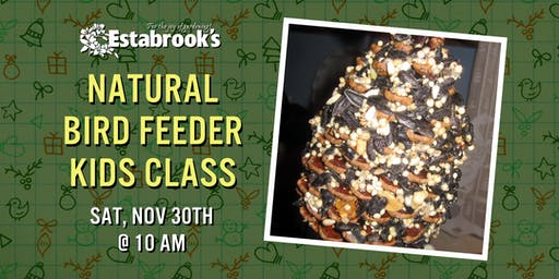Natural Bird Feeder Kids Class