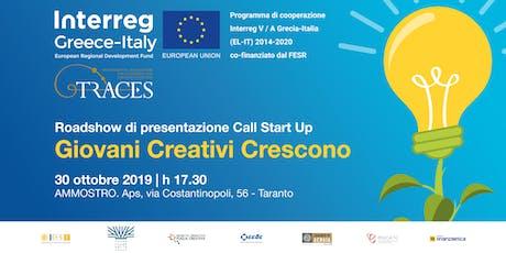 Giovani Creativi Crescono a Taranto con il programma di incubazione Traces tickets