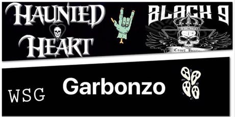 Halloween Party with Haunted Heart and Black 9 with guests Garbonzo tickets