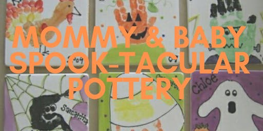 Spook-tacular Pottery Mommy and Baby