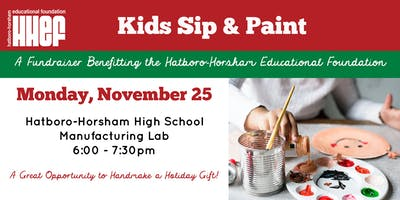 Kids Sip & Paint at HHHS Manufacturing Lab