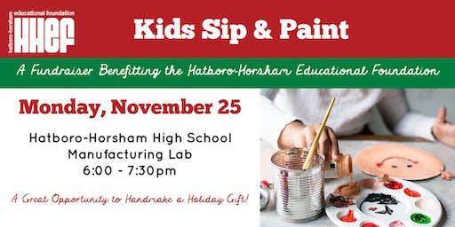 Kids Sip & Paint at HHHS Manufacturing Lab